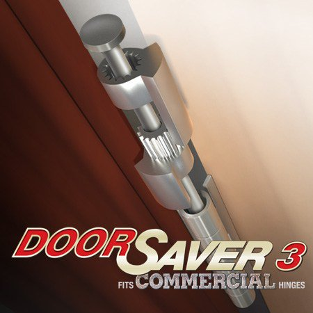 Van Door Hinge Pin - DoorSaver 3 Commercial Bumperless Hinge Pin Door Stop in Satin Nickel / Pewter Finish