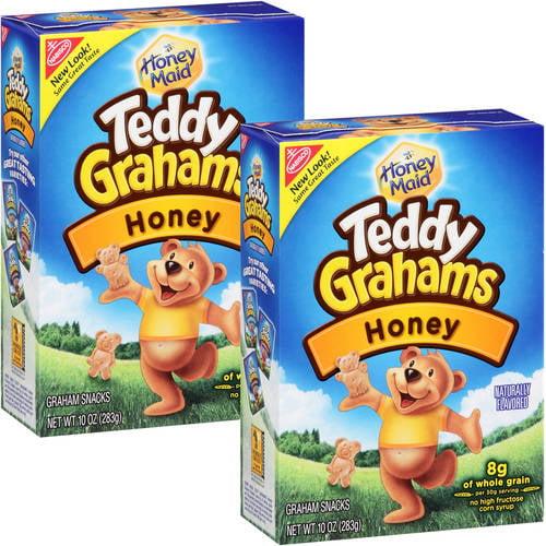 Nabisco Teddy Grahams Honey, 10 oz (Pack of 2)