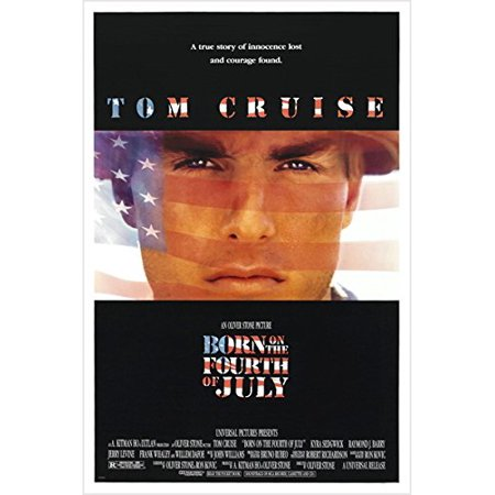 Tom Cruise In Born On The Fourth Of July Classic Movie Poster 24X36 Courage