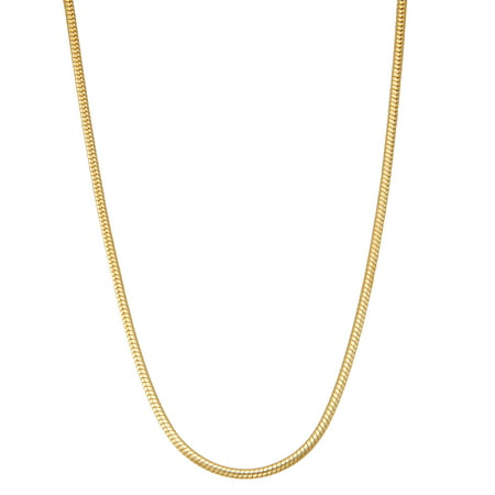 "14k gold plated Sterling silver Men's 20"" snake chain necklace"