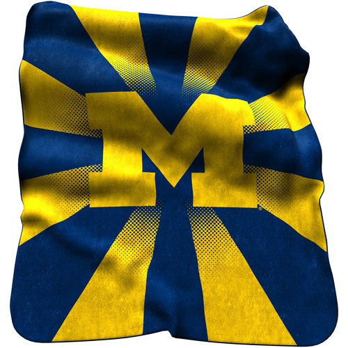 Logo Chair NCAA Michigan Raschel Throw