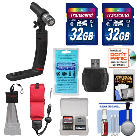 Sealife Sea Dragon Mini 600 Underwater Led Light Micro Kit With Grip  Adapter For Gopro   Ys    2  32Gb Cards   Reader   Float Strap   Kit