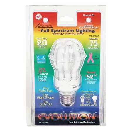 AERO-TECH Screw-In CFL,20W,Medium FS4B-20W