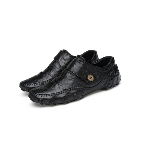 - Men's Leather Shoes Classic Fashion Casual Loafers Driving Moccasins Flats