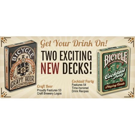 2 Decks Bicycle Craft Beer & Cocktail Party Standard Poker Playing Cards Betty Boop Playing Cards