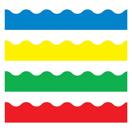 TREND enterprises, Inc. Bright Colors Terrific Trimmers, Variety Pack, Vibrant, contemporary trimmers and borders add cheer to classrooms, pizzazz to parties and events. By Trend Enterprises