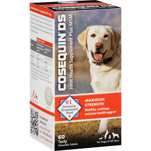 Cosequin DS Joint Health Supplement Plus MSM for Dogs Tablets, 60 count