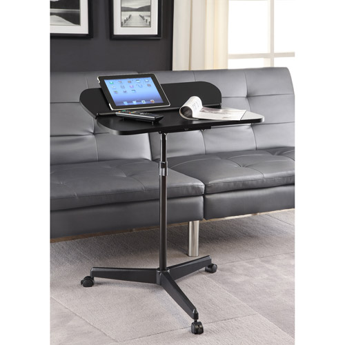 Altra Laptop and Tablet Cart with Flip-Up Panel, Black