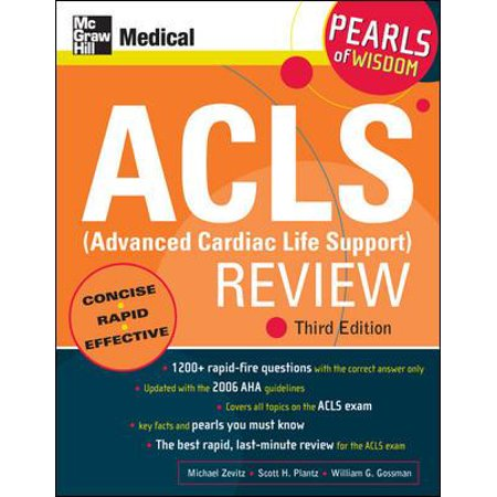 Acls  Advanced Cardiac Life Support  Review  Pearls Of Wisdom