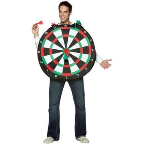 PACKS OF DART BOARD COSTUME GIANT PLUSH FUNNY SPORT ADULT STAG PARTY FANCY DRESS