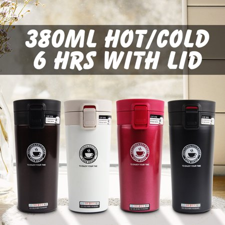 Fashion 380ml/13OZ Stainless Steel Vacuum Coffee Tea Water Warming Thermos Flask Insulated Bottle for Travel