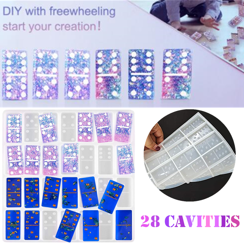 2x Silicone Dominoes Board Game DIY Making Mold Resin Epoxy Casting Mould Craft