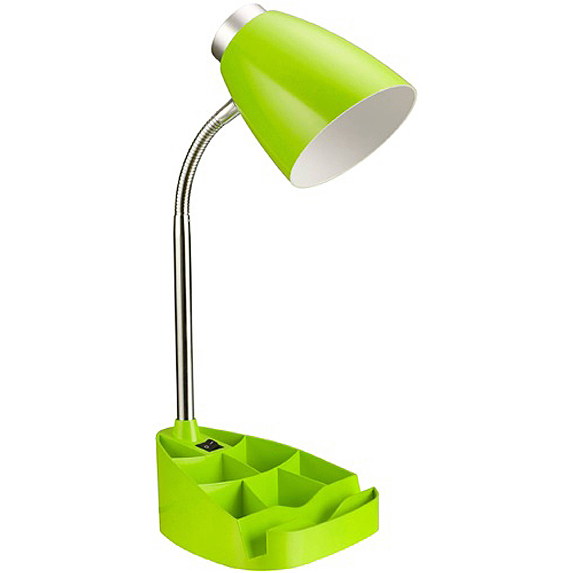 Limelights Neon Green Gooseneck Organizer Desk Lamp with iPad ...