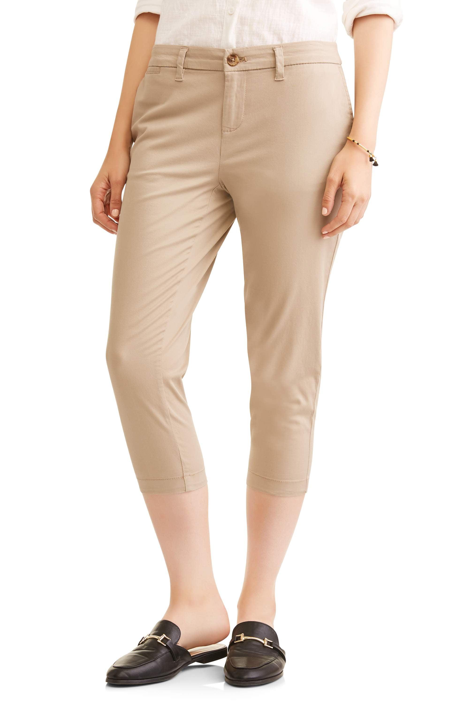 Faded Glory Women's Chino Capri Pants