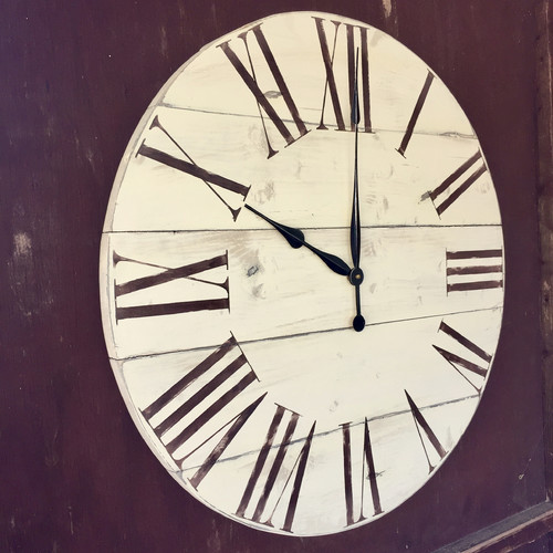 essex crafted wood products oversized 28 billericay vintage style painted wood wall clock