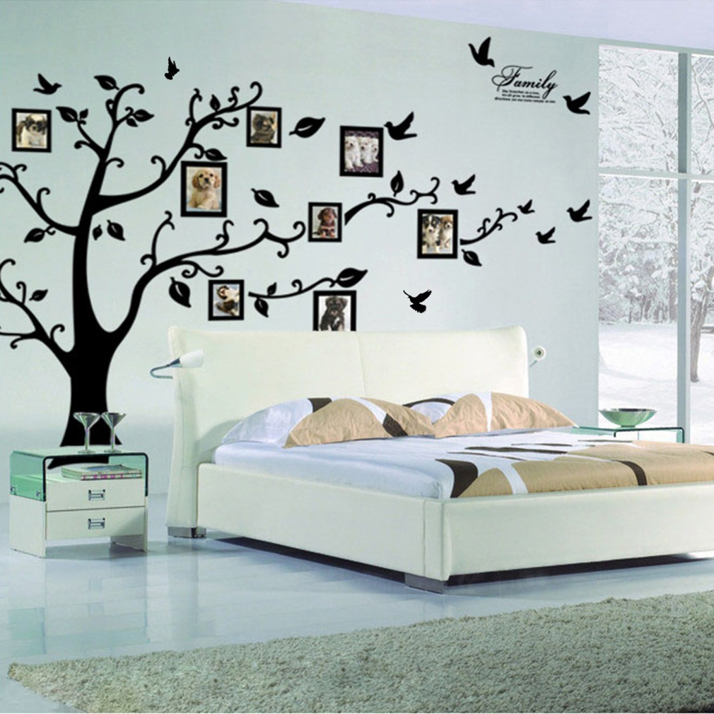 Beautiful Tree Leaf Pattern Window Living Room Decal Wall Decor Sticker