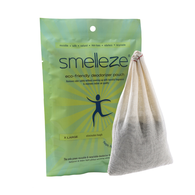 SMELLEZE Reusable Nursery Odor Removal Deodorizer Pouch: Rids Child Smell Without Scents in 200 Sq. Ft.