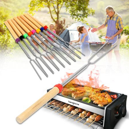 Hot Dog Roasting Forks (Marshmallow Roasting Sticks, Telescoping 12.2