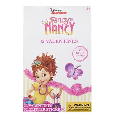 Disney 32 Fancy Nancy Glt Sticker Cards