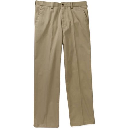 George Big Men's Premium Flat Front Khaki (Big Bill Khaki)