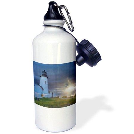 3dRose Sun, Pemaquid Point Lighthouse, New Harbor, Maine - US20 CHA0068 - Chuck Haney, Sports Water Bottle, 21oz