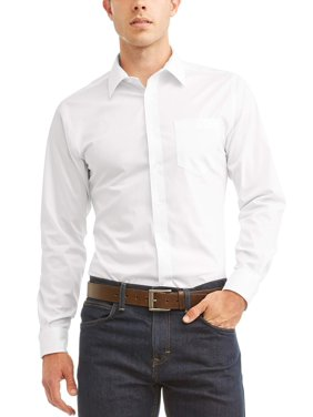 98aa53c588173a Product Image George Long Sleeve Mens Performance Slim Fit Dress Shirt