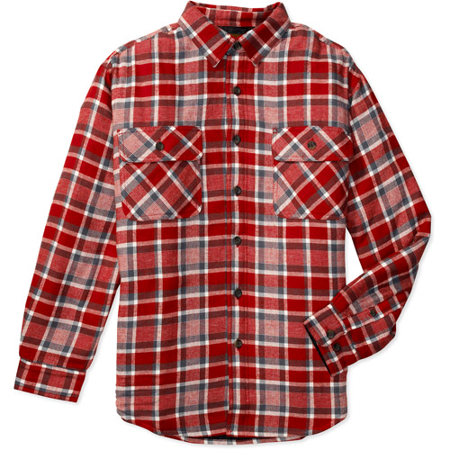 Faded Glory - Big Men's Flannel Shirt Jacket with Quilted Lining