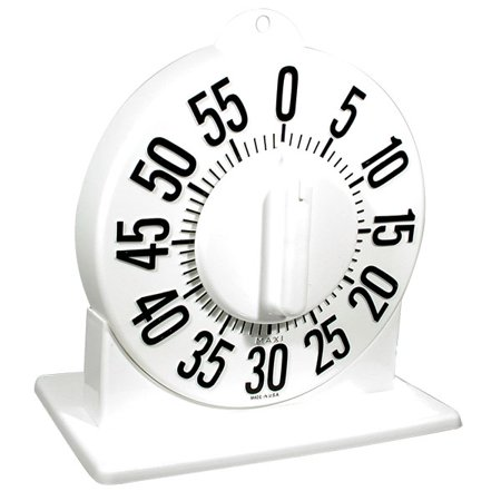 Tactile Short Ring Low Vision Timer With Stand - White Dial (Short Ring Timer)