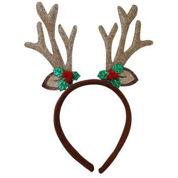 REINDEER HEADBAND - Reindeer Antler Headband