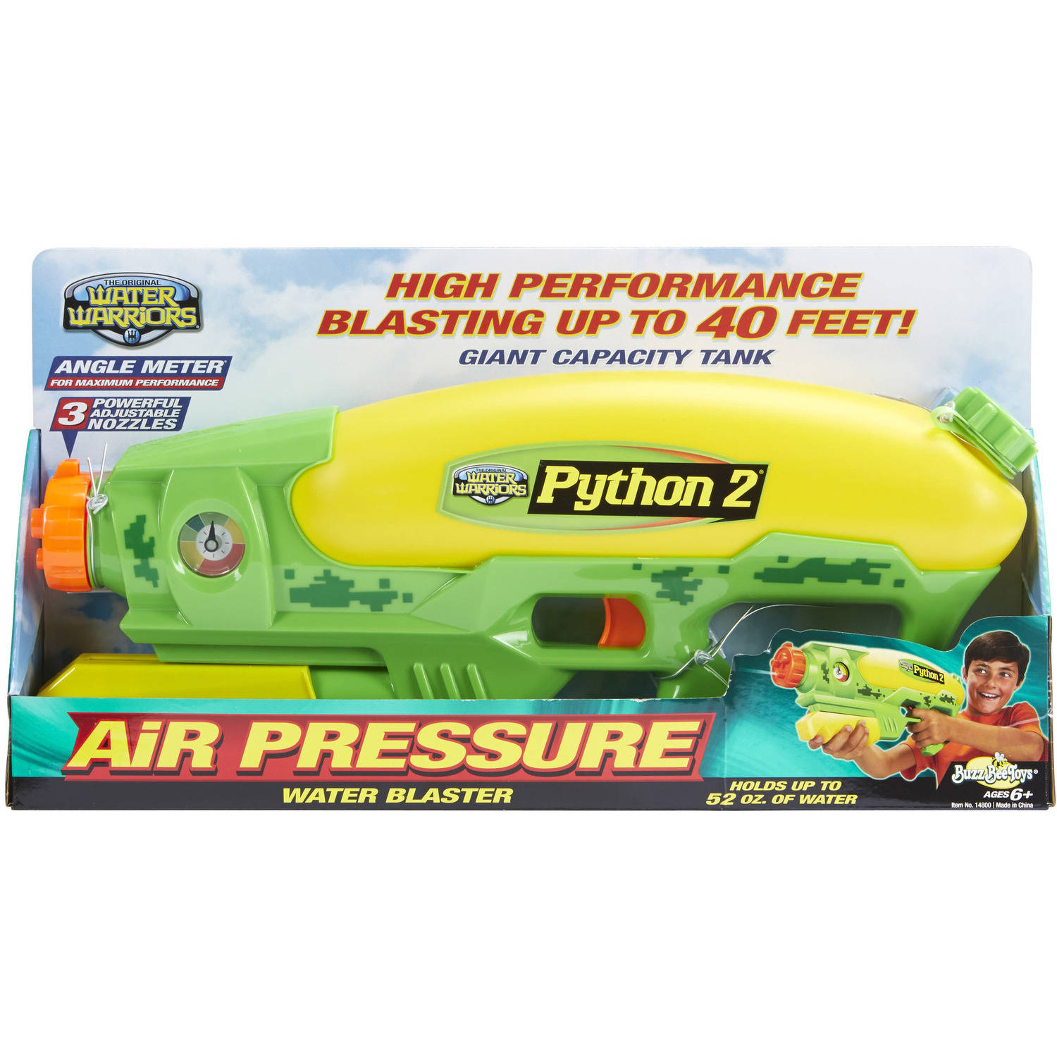 Buzz Bee Toys Water Warriors Python 2 Water Blaster by Alex Brands