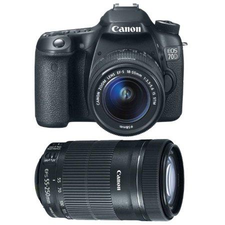 canon eos 70d with 18 55mm stm and 55 250mm stm lens bundle. Black Bedroom Furniture Sets. Home Design Ideas