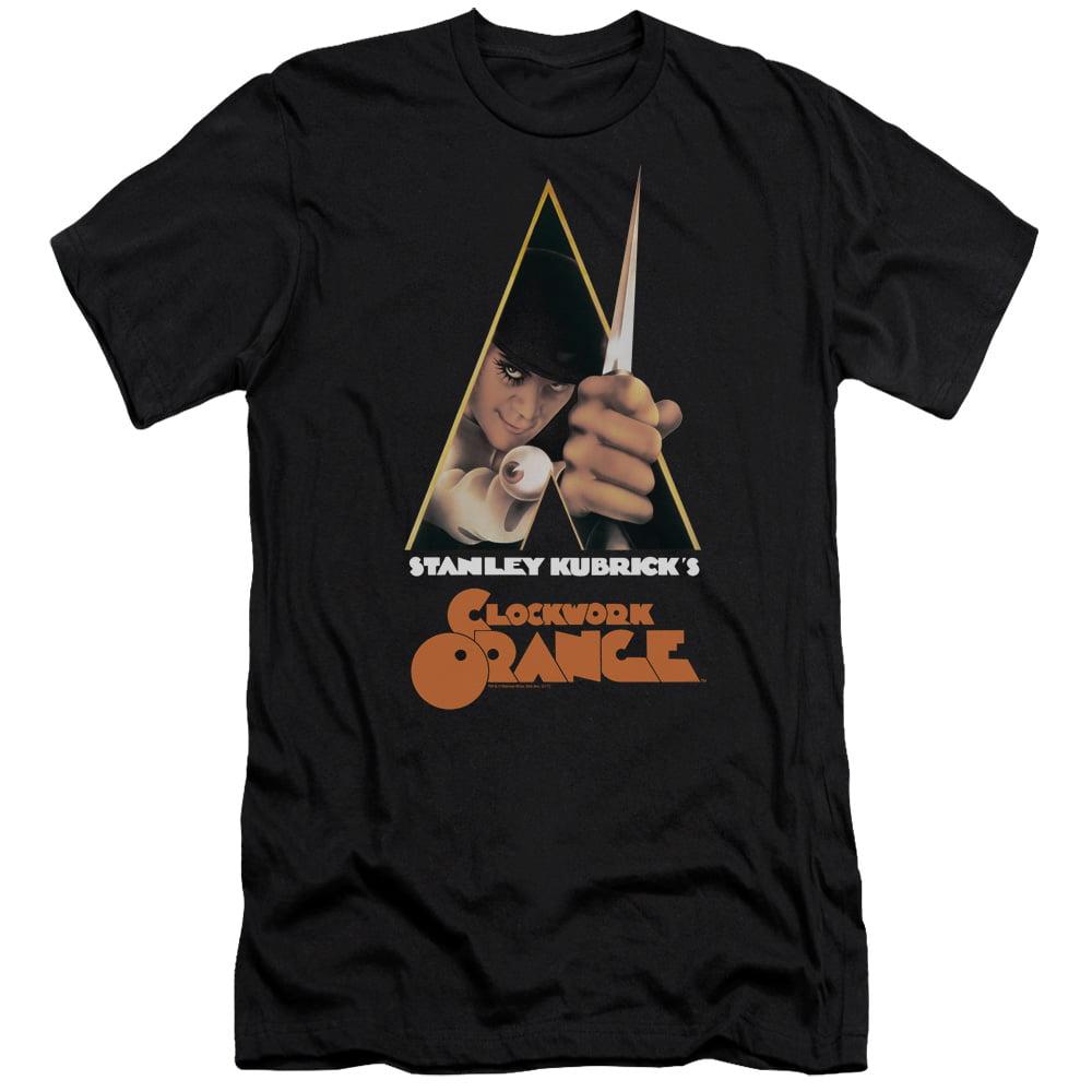 A Clockwork Orange Poster Mens Slim Fit Shirt (Black, Small)