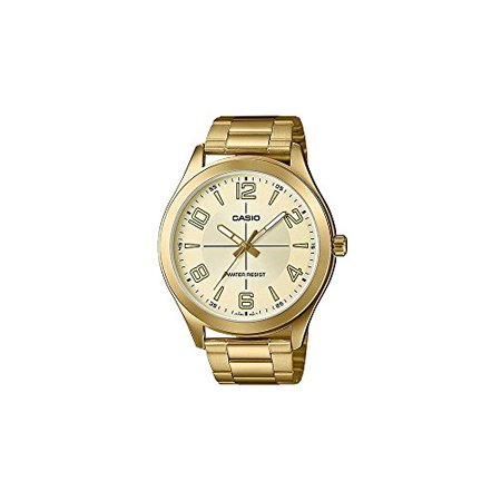 MTP-VX01G-9B Men's Gold Tone Stainless Steel Big Case Gold Dial