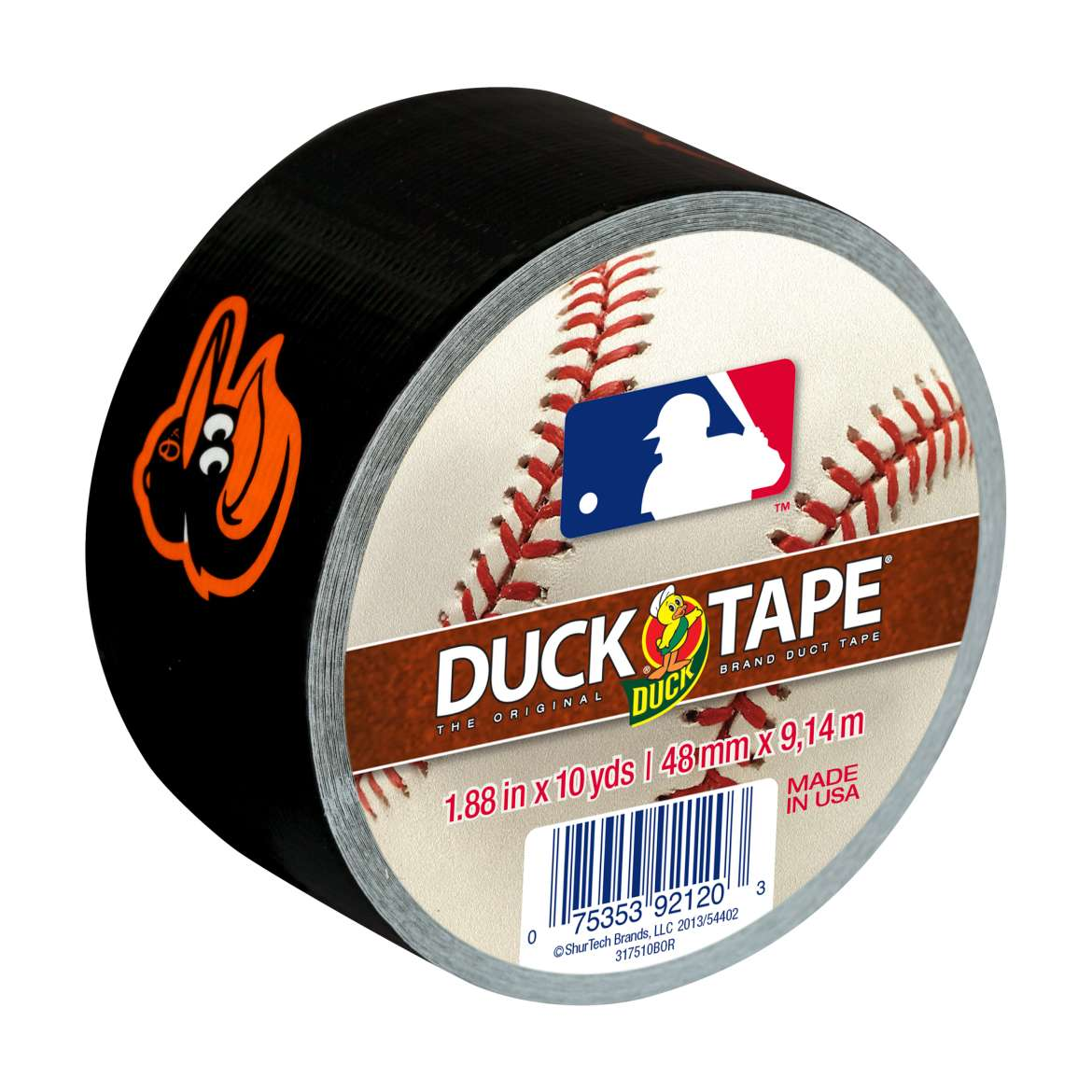 MLB Licensed Duck Tape Brand Duct Tape - Baltimore Orioles, 1.88 in. x 10 yd.