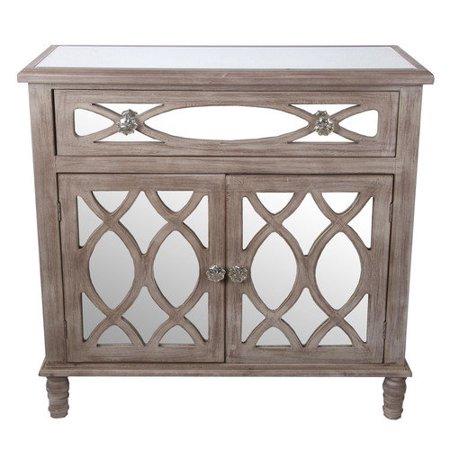 Privilege 1 drawer 2 door mirrored accent cabinet for 1 drawer 2 door cabinet