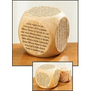"Youth Childrens Catholic Gift Learning Toy Large 2 1/4"" Wood Original Our Father Prayer Cube"