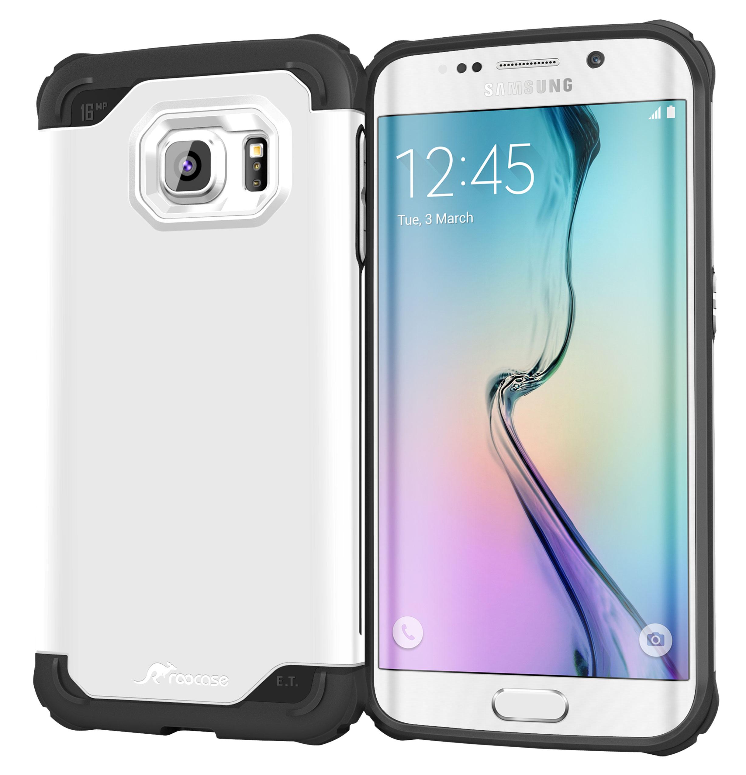 Galaxy S6 Edge Case, roocase [Exec Tough] Galaxy S6 Edge Slim Fit Case Hybrid PC / TPU [Corner Protection] Armor Cover Case for Samsung Galaxy S6 Edge (2015)