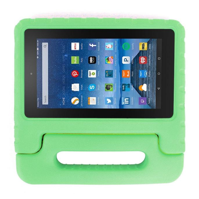 Kids Shock Proof EVA Handle Case Cover for Amazon Kindle Fire HD 7 2015 Green