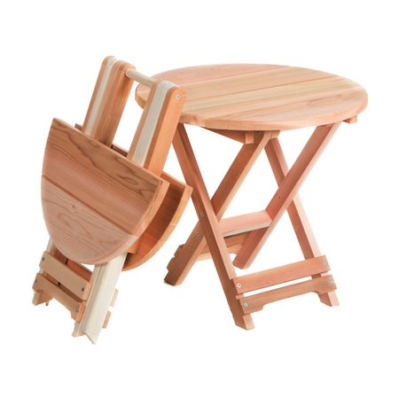 All Things Cedar Folding Side Table - Western Red -