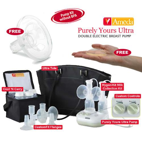 Ameda 17085KIT1 Combo  1 Purely Yours Ultra Breast Pump With 2 ComfortGel Soothi