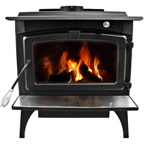 Pleasant Hearth 1,800 sq ft Wood Burning Stove with Blower, Medium, LWS-127201