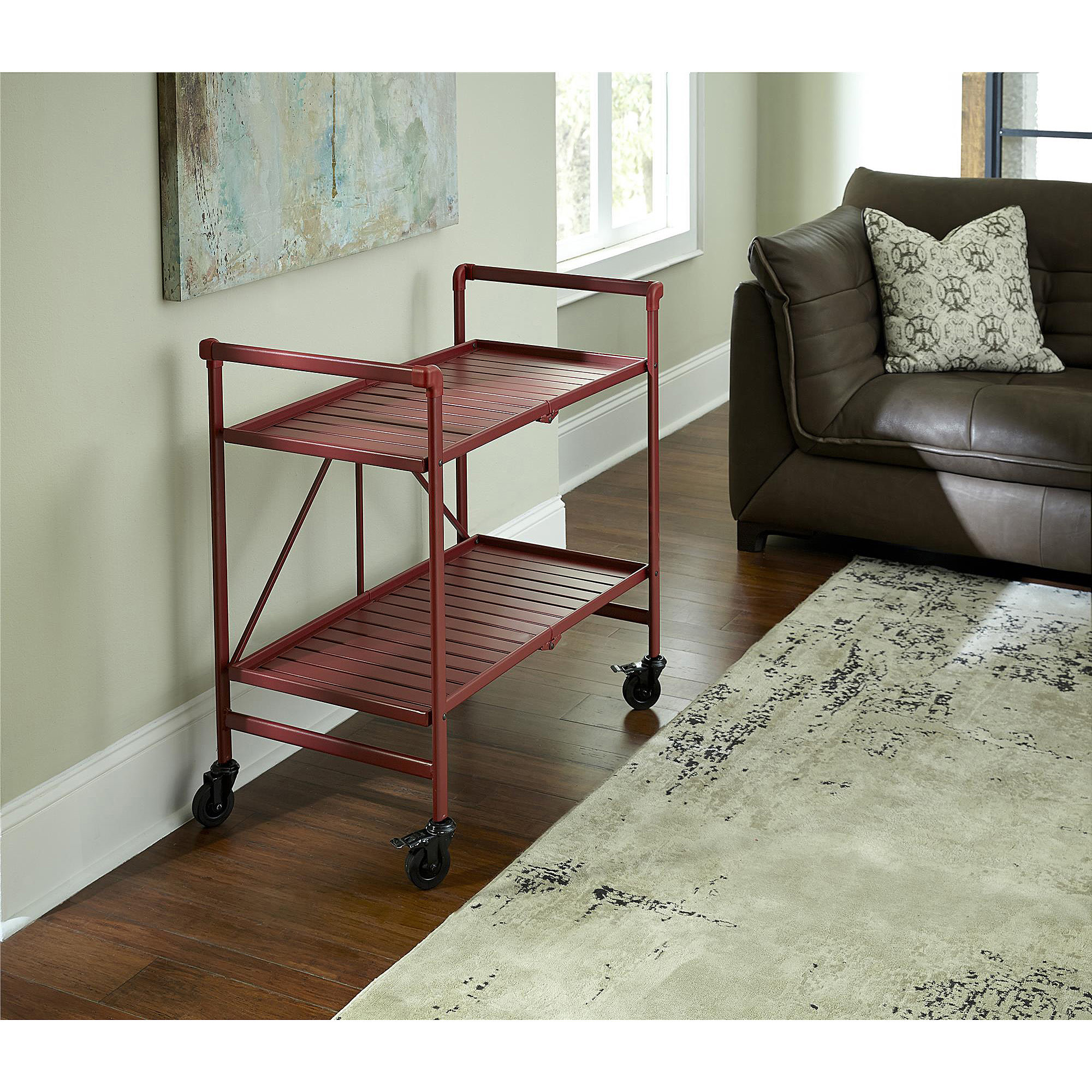 Cosco Metal Slat Folding Serving Cart Walmart