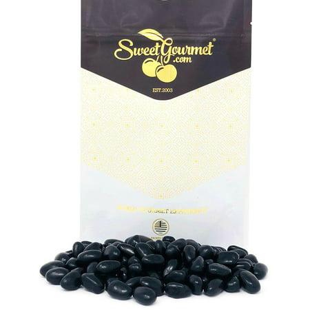 Black Jelly Beans Eggs - Licorice Flavor jelly beans bulk candy 15oz bag