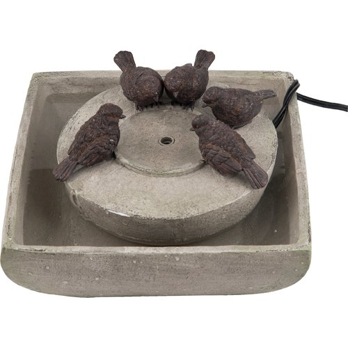 Transpac Polystone Bird Fountain