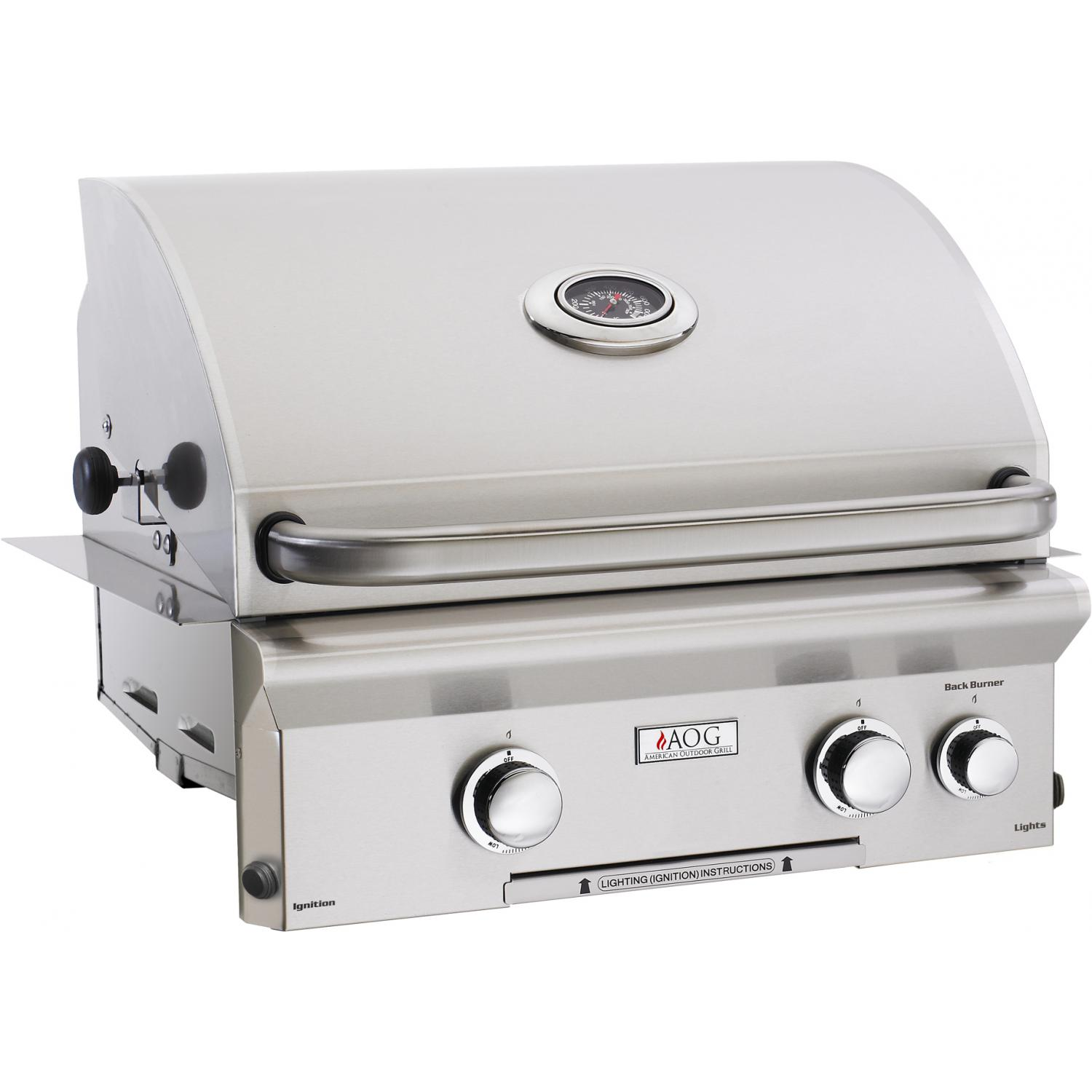 American Outdoor Grill L-series 24-inch 2-burner Built-in Natural Gas Grill With Rotisserie