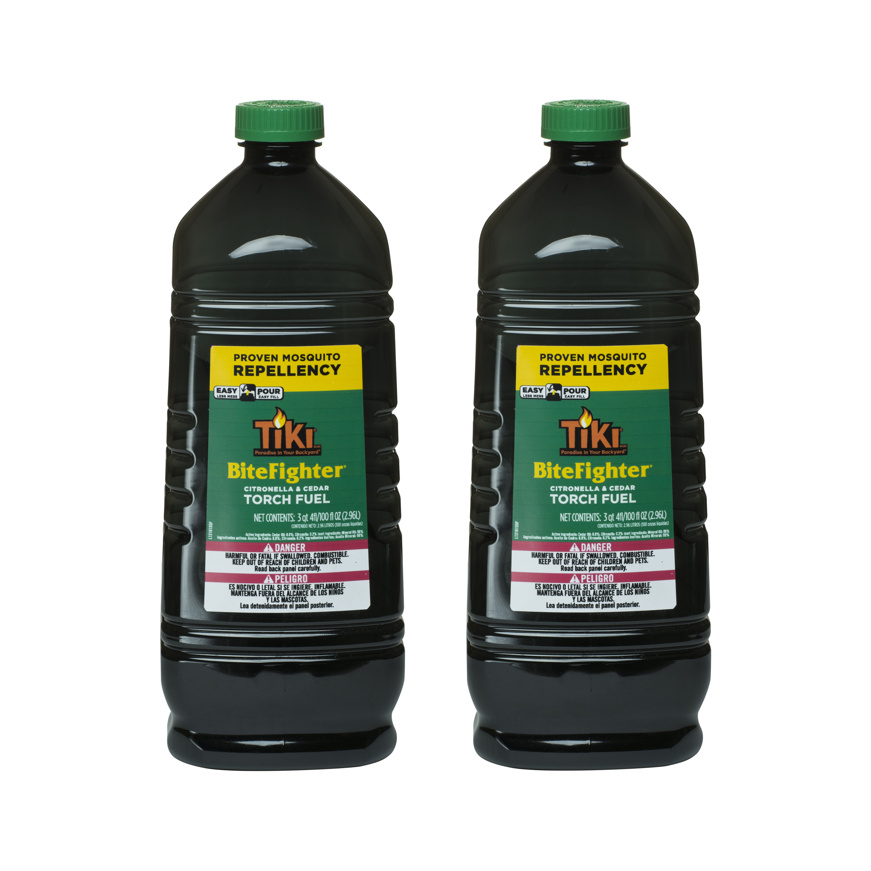 TIKI® Brand 100 oz. BiteFighter Torch Fuel with Easy Pour System 2-pack