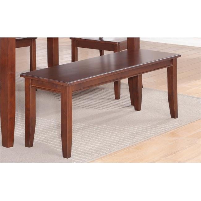 Wooden Imports Furniture DU6-MAH-LC 6 PC Dudley 36 inch x 60 inch Table  4 Faux Leather Seat Chairs and one Bench in