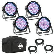 American DJ Mega Flat Pak Plus RGB + UV LED Mega Par Profile Wash Light System