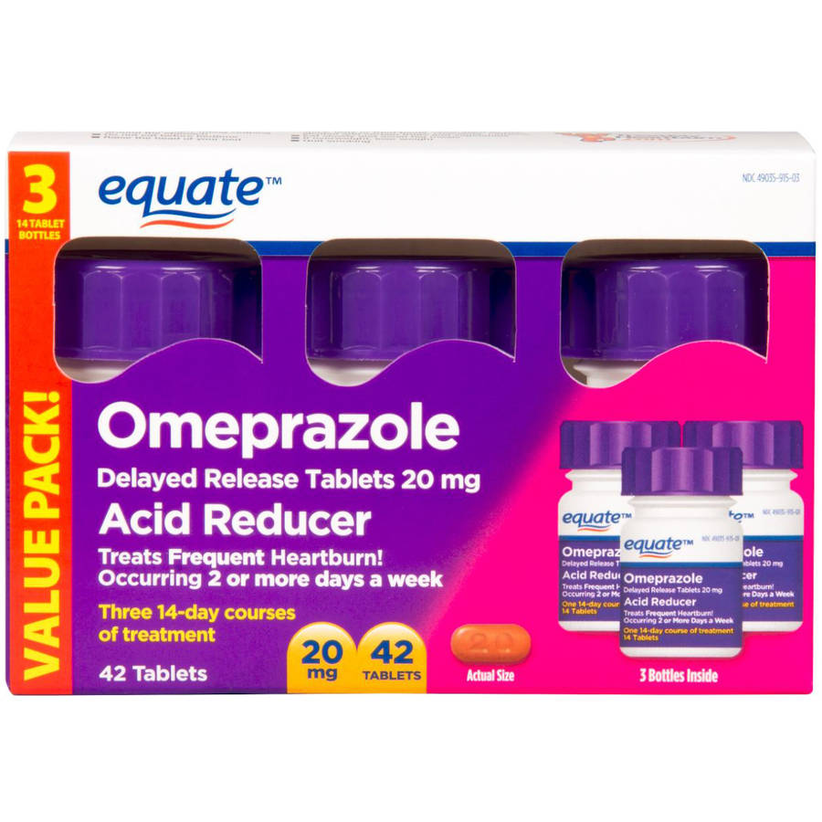Equate Delayed Release Tablet 20Mg Acid Reducer Omeprazole 42ct