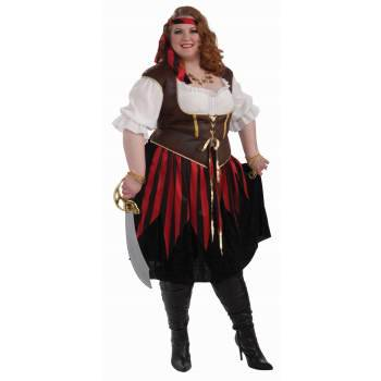 CO-PIRATE LADY-XXX LARGE (Plus Size Ladies Pirate Costume)